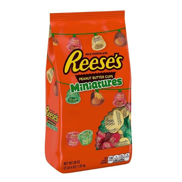 Reeses шоколадные конфеты с арахисовой начинкой Hershey США 1020 грамм Christmas Candy Holiday Peanut Butter