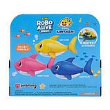Robo Alive Интерактивная игрушка для ванны малыш акула Junior Baby Shark Pinkfong, фото 4