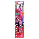 Colgate Детская электрическая зубная щетка тролли Розочка Kids Battery Powered Toothbrush trolls, фото 3