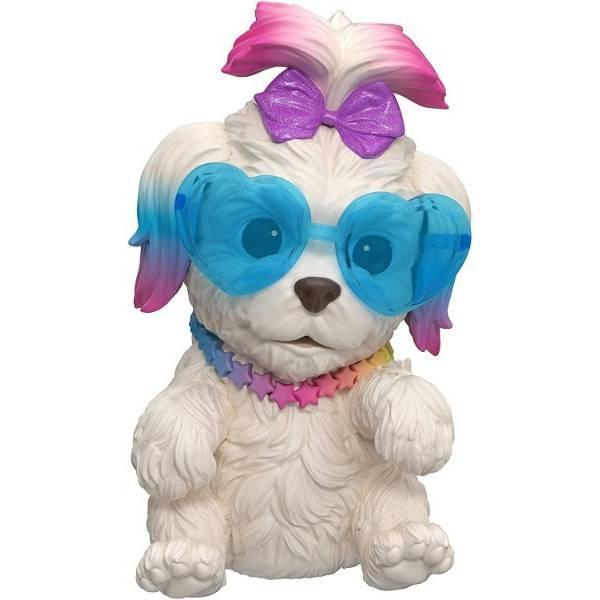 Little Live Pets OMG Интерактивный щенок собачка сквиш 26115 Rainbow Pop Squishy Puppy so Soft Have Talent