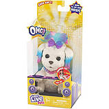 Little Live Pets OMG Интерактивный щенок собачка сквиш 26115 Rainbow Pop Squishy Puppy so Soft Have Talent, фото 2