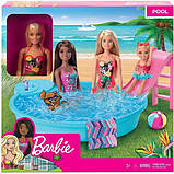 Barbie Набір Лялька Барбі з басейном GHL91 Doll and Pool Playset, фото 2