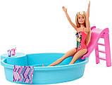 Barbie Набір Лялька Барбі з басейном GHL91 Doll and Pool Playset, фото 4