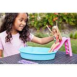 Barbie Набір Лялька Барбі з басейном GHL91 Doll and Pool Playset, фото 3