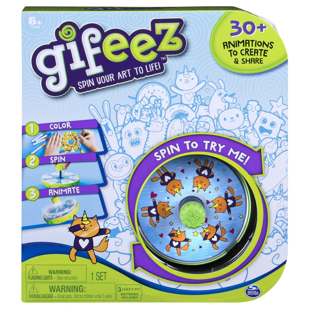 Spin master Gifeez анимационный набор для творчества 6045294 Spinning GIF Art Studio