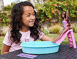 Barbie Набір Лялька Барбі з басейном брюнетка GHL92 Doll and Pool Playset, фото 3