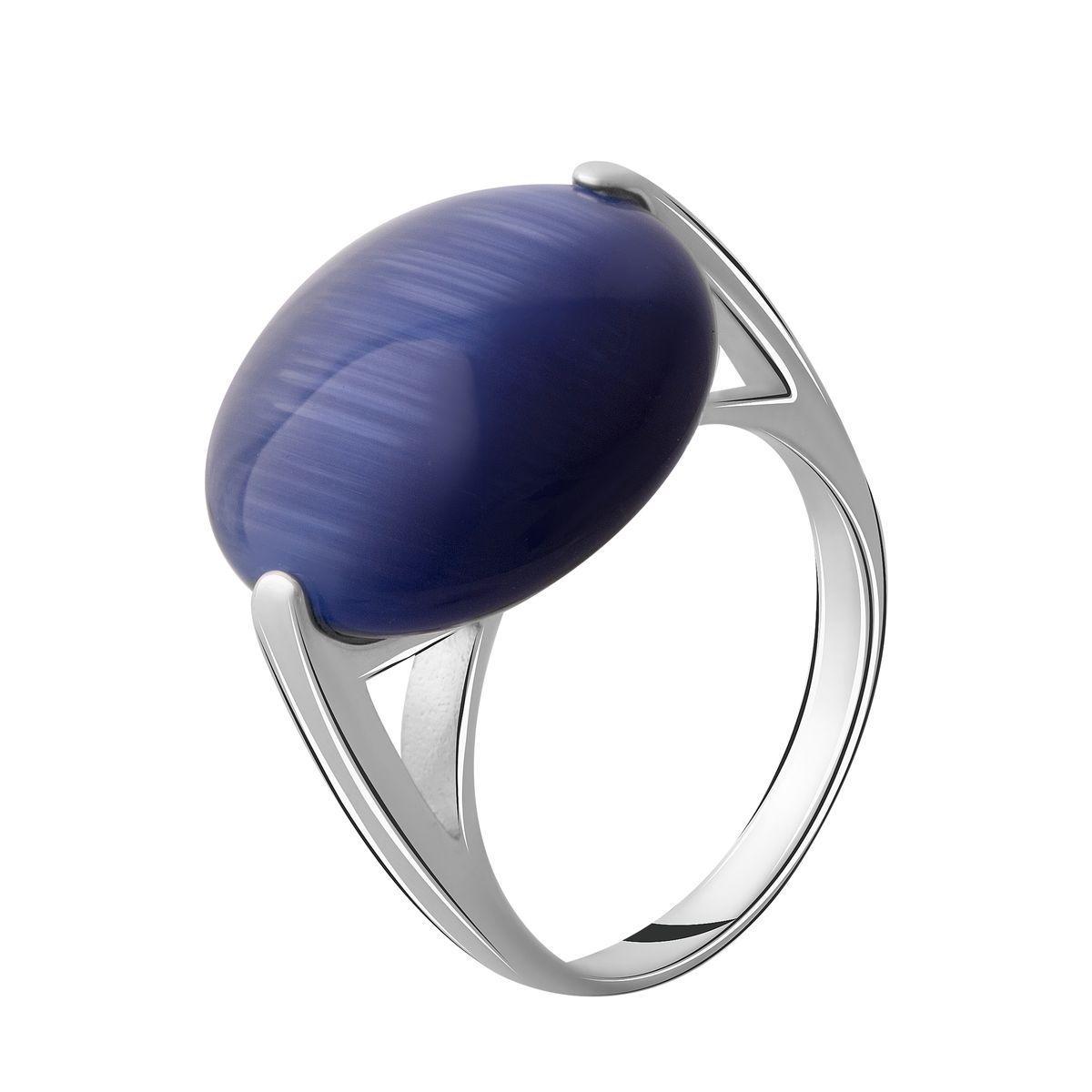 Серебряное кольцо DreamJewelry с кошачим глазом (2054290) 18 размер