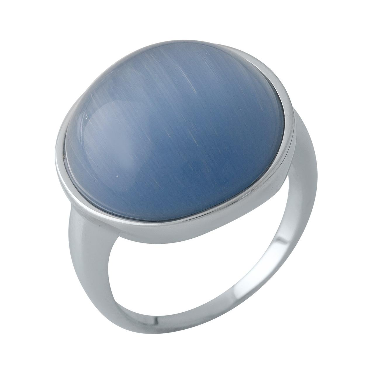 Серебряное кольцо DreamJewelry с кошачим глазом (2003007) 18 размер