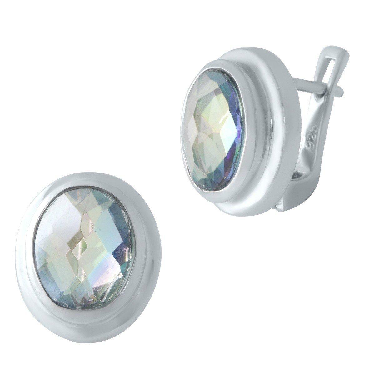 Серебряные серьги DreamJewelry с натуральным мистик топазом (2004301)
