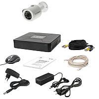 Комплект AHD видеонаблюдения на 1 камеру Tecsar 1OUT, 1 Мп