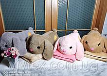 Плед іграшка кролик і подушка 3в1 оптом