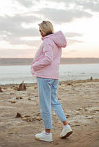 """Стеганая женская короткая куртка """"NORD"""" с капюшоном (большие размеры), фото 2"""