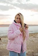 """Стеганая женская короткая куртка """"NORD"""" с капюшоном (большие размеры)"""