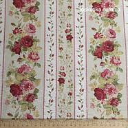 58016 Садовая роза (орнамент). Ткань  с цветочным принтом. Хлопковая ткань.., фото 2