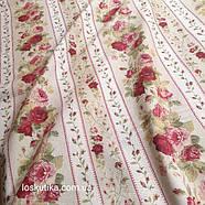58016 Садовая роза (орнамент). Ткань  с цветочным принтом. Хлопковая ткань.., фото 3