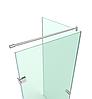 D5 Полный комплект фурнитуры для угловой душевой стеклянной кабины, фото 2