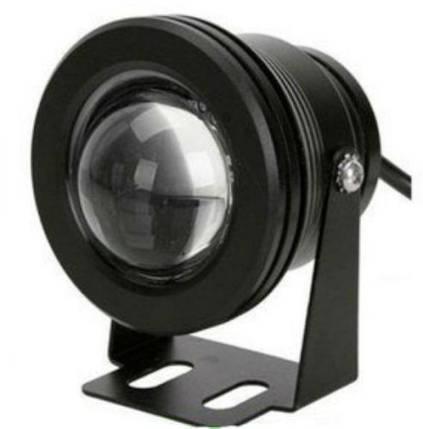 Светодиодный круглый линзованый прожектор SL-10-12 10W 12V 6500К IP67 черный Код.58502, фото 2