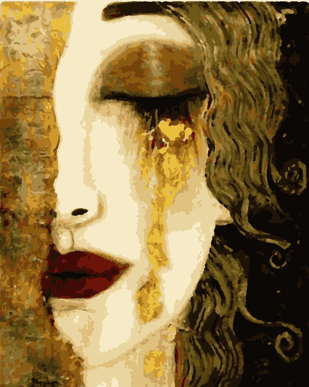 """Картины по номерам """"Золоті сльози (з золотою фарбою)"""" 40*50см"""