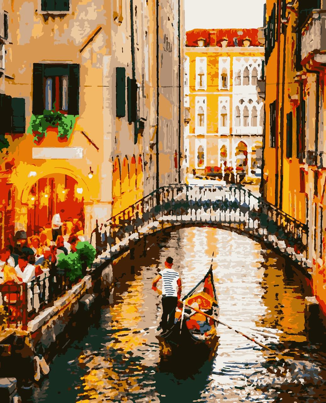 """Картины по номерам """"Вечір у Венеції"""" 50*60 см"""
