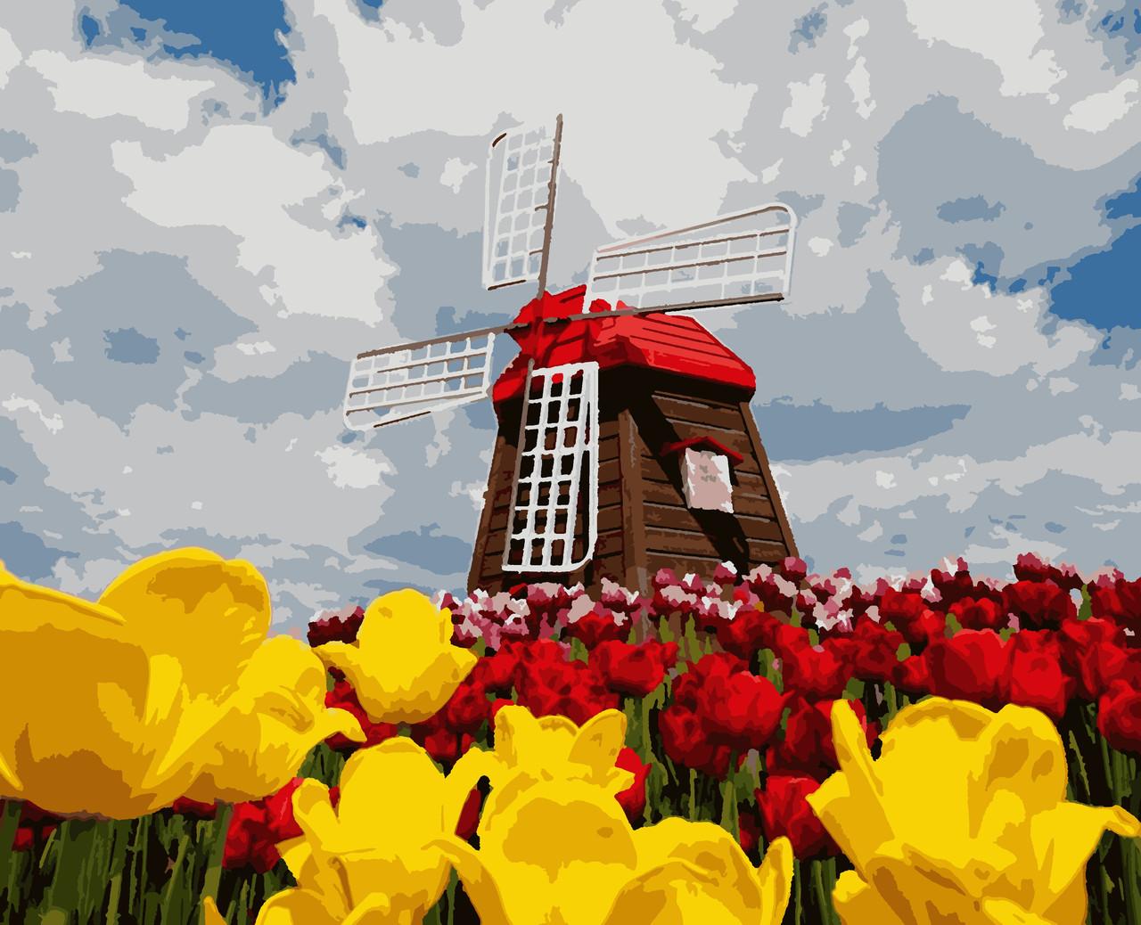 """Картины по номерам """"Цветущая Голландия"""" 50*60 см"""