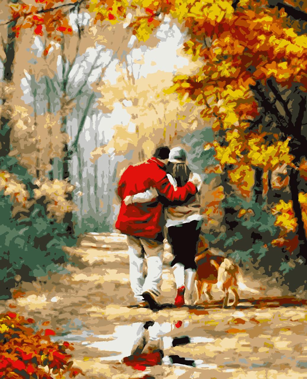 "Картины по номерам ""Осіння прогулянка"" 50*60 см"