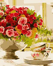"""Картини за номерами """"Трояндовий настрій"""" 50*60 см"""