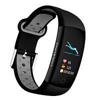 Фитнес-браслет Smart Band UMax Q6S 3D дисплей Тонометр Черно-серый