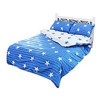 Комплект постельного белья Good Idea звезды полуторное сатин Синий