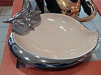 """Блюдо для фруктов и конфет Сова """"Пища для ума"""" (Art Ceramic) OS-07"""