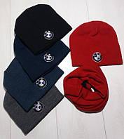 Шапка теплая зимняя, флис для мальчика.+ шарф флис
