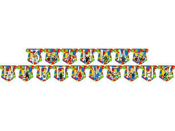 """Лего Ниндзяго: Белый"" - Гирлянда Буквы длинна - 2.5м., УКР"