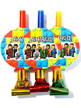 """Лего Ниндзяго: Белый"" - Язычки гудки (6 шт. в уп.)"