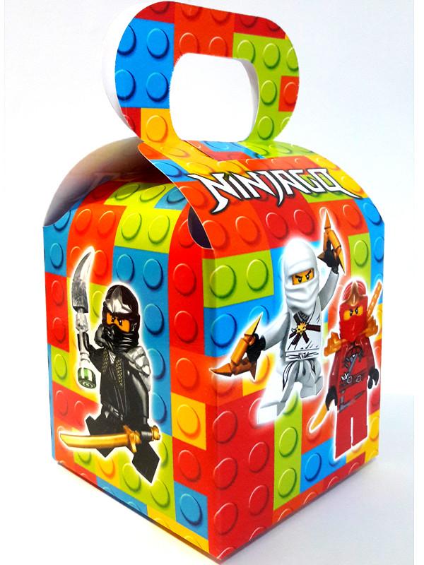 """""""Лего Ниндзяго: Белый"""" - Бонбоньерка 10/10/12 см."""