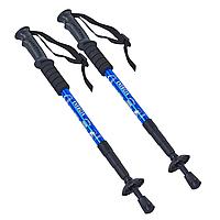 Палиці скандинавські телескопічні трекінгові для скандинавської ходьби ENERGIA Пара Сині (TY-2915-1)
