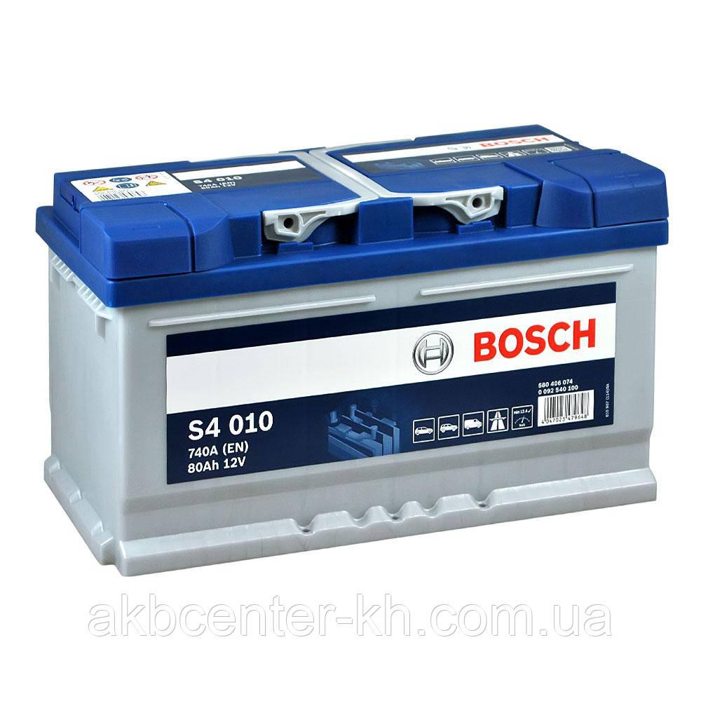 Аккумулятор автомобильный BOSCH 6CT-80 S4 R 740A