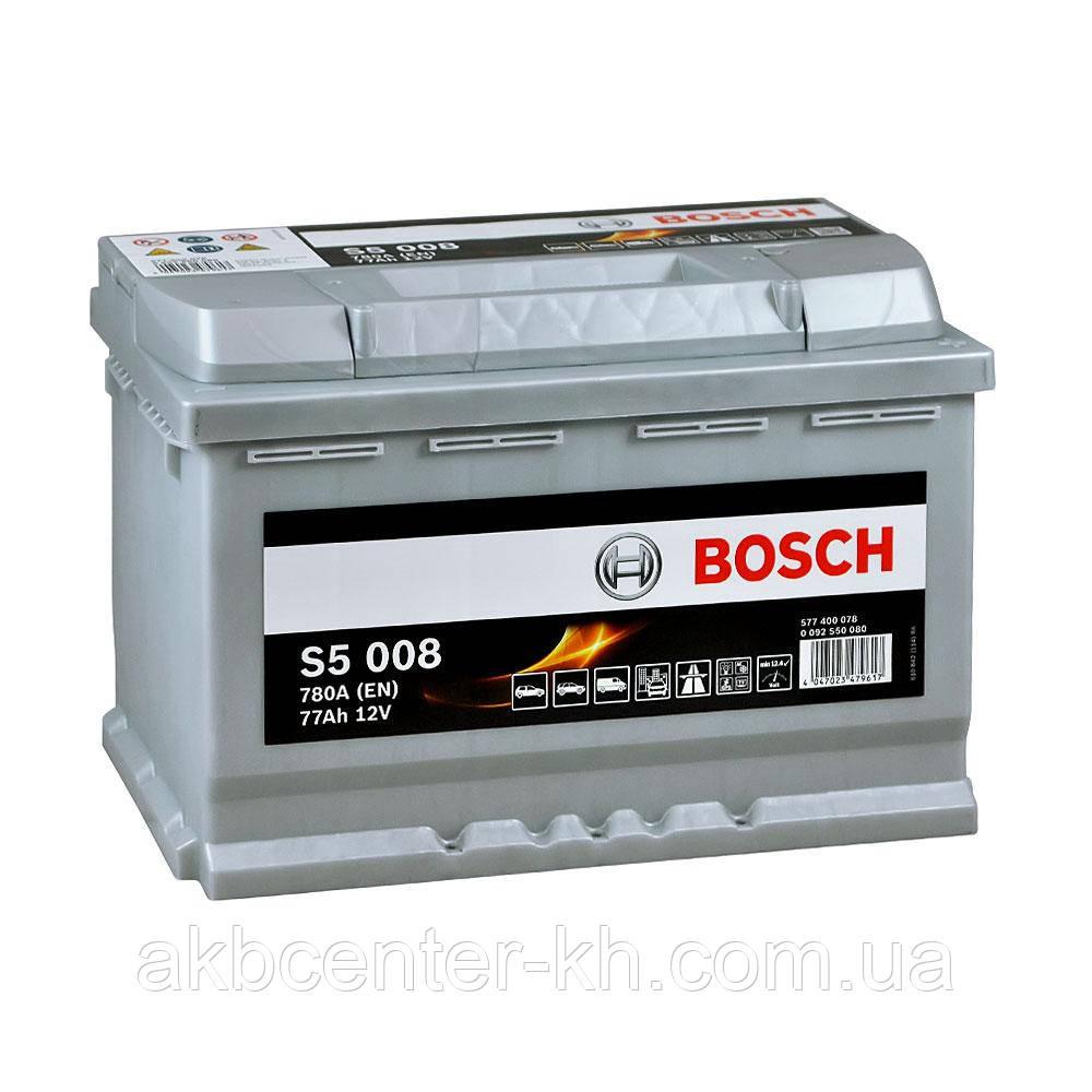 Аккумулятор автомобильный BOSCH 6CT-77 S5 R 780A