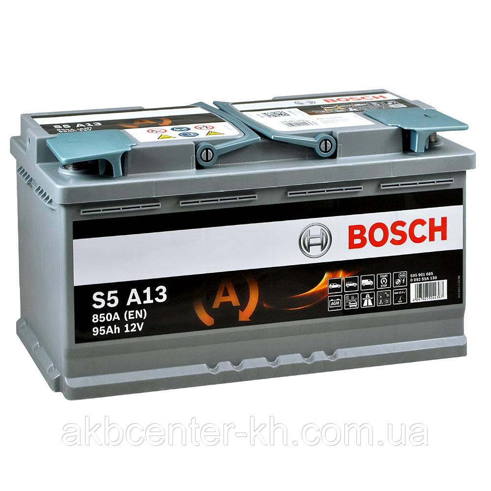 Аккумулятор автомобильный BOSCH AGM S5 6CT- 95Aз R 850A