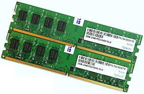 Пара оперативной памяти Apacer DDR2 4Gb (2Gb+2Gb) 800MHz PC2 6400U CL6 (76.A153G.B770C) Б/У