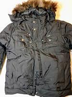 Куртка зимняя короткая мужская на синтепоне с капюшоном 46 48