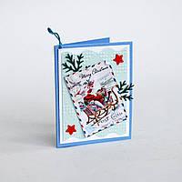 Мини-открытка ручной работы. Marry Christmas!