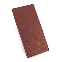 Кожаный вертикальный мужской кошелек Bond 574-285 коричневый портмоне купюрник из натуральной кожи, фото 1