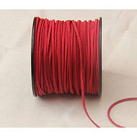 Шнур замшевый , Темно красный       катушка 90 метров