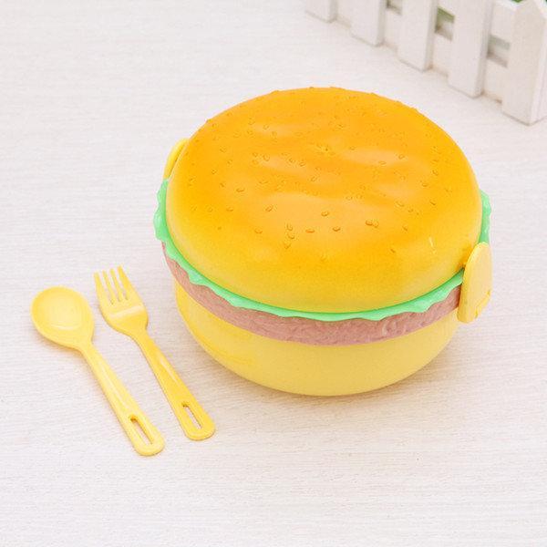 Ланч-бокс Гамбургер Hamburger Жовтий