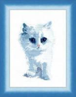 """Набор для вышивания Чарівна мить """"(№350) Белый кот"""""""
