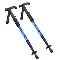 Палиці скандинавські телескопічні трекінгові для скандинавської ходьби ENERGIA Сині (TY-2915-2)