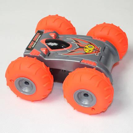Машинка на радио управлении перевёртыш вездеход оранжевый surmount с насосом, фото 2
