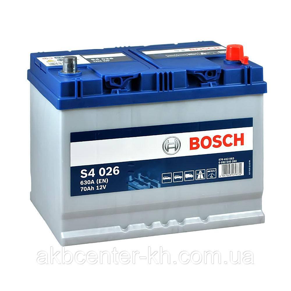 Аккумулятор автомобильный BOSCH 6CT-70 Asia L 630A
