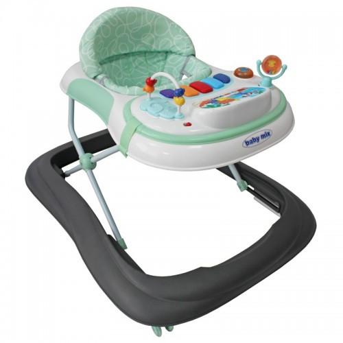 Детские ходунки Baby Mix с игровой панелью, grey/mint UR-1120-RA6G/MI (8656)