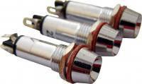 Сигнальная арматура AD22C-8  белая 24V AC/DC