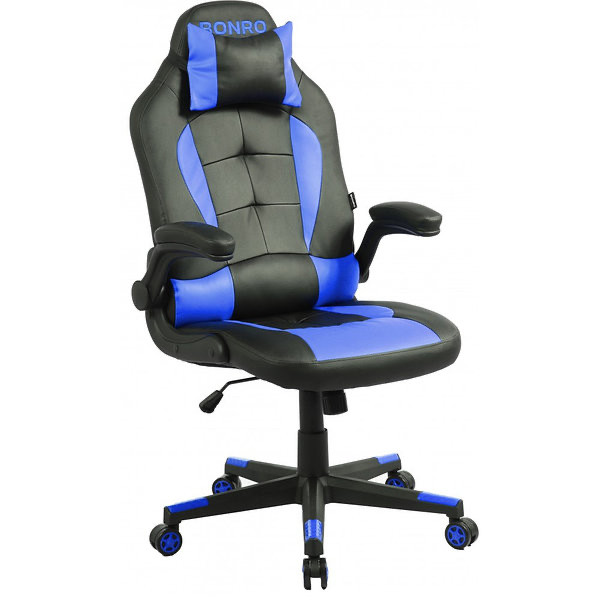 Кресло офисное Bonro B-2063 синее